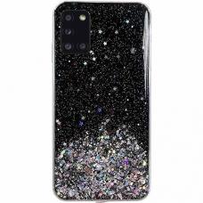 Blizgus TPU dėklas Wozinsky Star glitter Samsung Galaxy A71 juodas