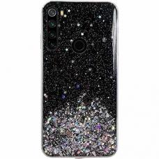 """Blizgus TPU dėklas """"Wozinsky Star glitter"""" Xiaomi Redmi Note 8T juodas"""