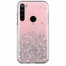 "Blizgus TPU dėklas ""Wozinsky Star glitter"" Xiaomi Redmi Note 8T rožinis"