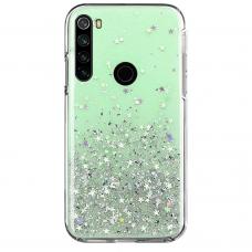 "Blizgus TPU dėklas ""Wozinsky Star glitter"" Xiaomi Redmi Note 8T žalias"