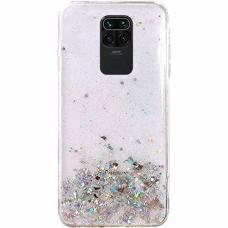 "Blizgus TPU dėklas ""Wozinsky Star glitter"" Xiaomi Redmi Note 9S skaidrus"