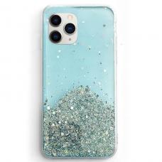 Blizgus TPU dėklas Wozinsky Star Glitter iPhone 11 Pro mėlynas