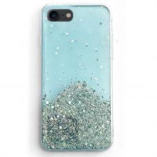 Blizgus TPU dėklas Wozinsky Star Glitter iPhone SE 2020/ 8/ 7 mėlynas