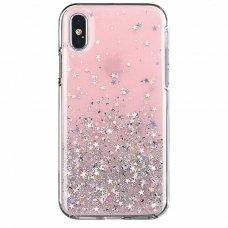 Blizgus Tpu Dėklas Wozinsky Star Glitter Iphone Xr Rožinis