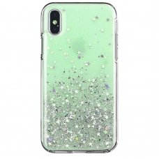 "Blizgus Tpu Dėklas ""Wozinsky Star Glitter"" Iphone Xs / Iphone X Žalias"