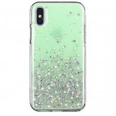 """Blizgus TPU Dėklas """"Wozinsky Star Glitter"""" iPhone XS Max žalias"""
