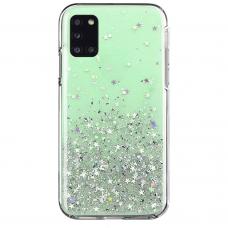 Blizgus TPU dėklas Wozinsky Star Glitter Samsung Galaxy A02s žalias