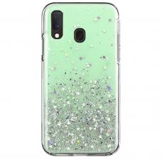"Blizgus Tpu Dėklas ""Wozinsky Star Glitter Shining"" Samsung Galaxy A20E Žalias"