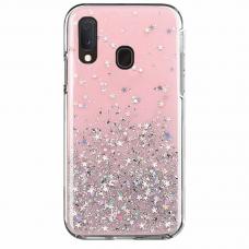 "Blizgus Tpu Dėklas ""Wozinsky Star Glitter"" Samsung Galaxy A20E Rožinis"