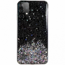 Blizgus TPU dėklas Wozinsky Star Glitter Samsung Galaxy A32 4G juodas