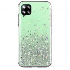 Blizgus TPU dėklas Wozinsky Star Glitter Samsung Galaxy A42 5G žalias