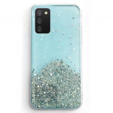 Blizgus TPU dėklas Wozinsky Star Glitter Samsung Galaxy A71 mėlynas