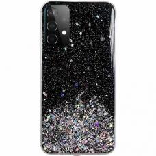 Dėklas Wozinsky Star Glitter Shining Samsung Galaxy A72 4G juodas