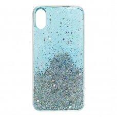 Dėklas su blizgučiais Wozinsky Star Glitter Shining Samsung Galaxy M30s Mėlynas