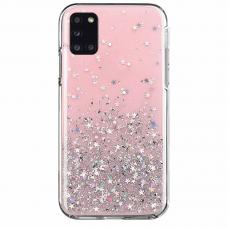 Blizgus TPU dėklas Wozinsky Star Glitter Samsung Galaxy M51 Rožinis