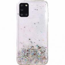 Blizgus TPU dėklas Wozinsky Star Glitter Samsung Galaxy M51 Permatomas