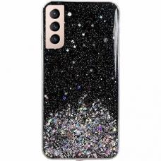 Dėklas Wozinsky Star Glitter Shining Samsung Galaxy S21 5G Juodas