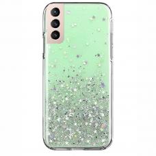 Dėklas Wozinsky Star Glitter Shining Samsung Galaxy S21+ 5G (S21 Plus 5G) žalias