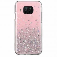 Blizgus TPU dėklas Wozinsky Star Glitter Xiaomi Mi 10T Lite Rožinis