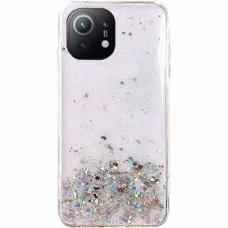 Blizgus TPU dėklas Wozinsky Star Glitter Xiaomi Mi 11 Permatomas