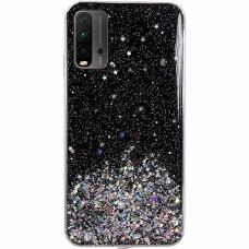 Blizgus TPU dėklas Wozinsky Star Glitter Xiaomi Poco M3/ Redmi 9T juodas