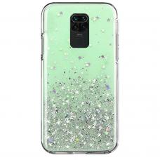 """Blizgus Tpu Dėklas """"Wozinsky Star Glitter"""" Xiaomi Redmi 10X 4G / Xiaomi Redmi Note 9 Žalias"""