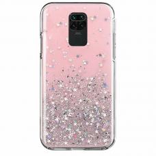 "Blizgus Tpu Dėklas ""Wozinsky Star Glitter"" Xiaomi Redmi 10X 4G / Xiaomi Redmi Note 9 Rožinis"