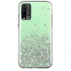 Blizgus TPU dėklas Wozinsky Star Glitter Xiaomi Redmi K40 Pro+ / K40 Pro / K40 / Poco F3 Žalias