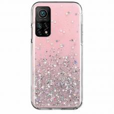 Blizgus TPU dėklas Wozinsky Star Glitter Xiaomi Redmi Note 10 /Note 10S rožinis
