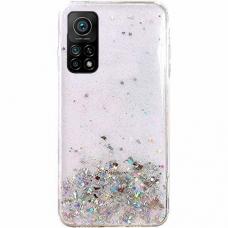 Blizgus TPU dėklas Wozinsky Star Glitter Xiaomi Redmi Note 10/ Note 10S permatomas