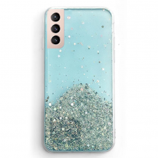 Wozinsky Star Glitter Shining dėklas skirtas Samsung Galaxy S21 5G mėlynas