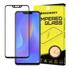 "APSAUGINIS STIKLAS VISAM EKRANUI ""WOZINSKY FULL GLUE SUPER TOUGH"" HUAWEI P SMART PLUS JUODAS AB06"