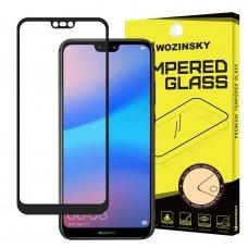 """Apsauginis Stiklas Visam Ekranui """"Wozinsky Full Glue Super Tough"""" Huawei P20 Lite Juodas"""