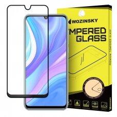"""Grūdintas Pilnai Dengiantis Apsauginis Stiklas """"Wozinsky Pro+ 5D Full Glue""""  Huawei P40 Lite / Nova 7I / Nova 6 Se Juodais Kraštais"""
