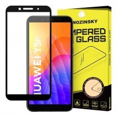 Wozinsky Tempered Glass Full Glue Pilnai Ekraną Dengiantis Stiklas Huawei Y5P Juodais Kraštais