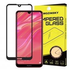 """Apsauginis Stiklas Visam Ekranui """"Wozinsky Full Glue Super Tough"""" Huawei Y6 2019 / Y6 Pro 2019 Juodais Kraštais"""