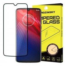 """Apsauginis Stiklas Visam Ekranui """"Wozinsky Full Glue Super Tough"""" Motorola Moto Z4 Juodas 8"""