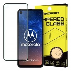 "APSAUGINIS STIKLAS VISAM EKRANUI ""WOZINSKY FULL GLUE SUPER TOUGH"" MOTOROLA ONE ACTION / MOTOROLA ONE VISION JUODAS AB208"