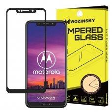 """Apsauginis Stiklas Visam Ekranui """"Wozinsky Full Glue Super Tough"""" Motorola One Juodas 8"""