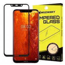 "Apsauginis Stiklas Visam Ekranui ""Wozinsky Full Glue Super Tough"" Nokia 8.1 / Nokia X7 Juodas 8"
