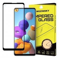 Wozinsky Ekrano Apsauginis, Grūdintas, Itin Tvirtas, Pilnai Dengiantis Stiklas Samsung Galaxy A21S Juodais Kraštais