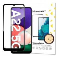 Ekrano Apsauginis Stiklas Su Rėmeliu, tinka su dėklu Wozinsky Tempered Glass Full Glue Super Tough Samsung Galaxy A22 5G Juodas
