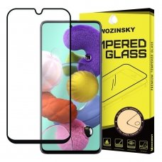 Wozinsky Full Glue Grūdintas, Ypač Tvirtas, Pilnai Dengiantis Ekraną Stiklas Samsung Galaxy A51 Su Juodais Kraštais