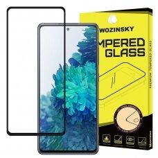 Wozinsky Tempered Glass Full Glue apsauginis stiklas skirta Samsung Galaxy A72 Juodas