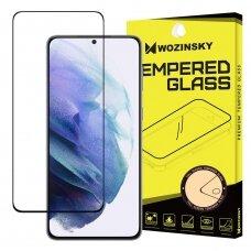 Pilnai Ekraną Dengiantis Apsauginis Stiklas (draugiškas dėklui) Wozinsky Tempered Glass Full Glue Super Tough Samsung Galaxy S21+ 5G (S21 Plus 5G) Juodas