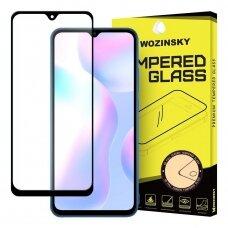 Wozinsky Pilnai Ekraną Dengiantis Apsauginis Stiklas Full Glue Xiaomi Redmi 9A Juodais Kraštais