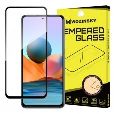 Apsauginis stiklas Wozinsky Tempered Glass Full Glue Super Tough  Xiaomi Redmi Note 10 / Redmi Note 10S Juodais kraštais
