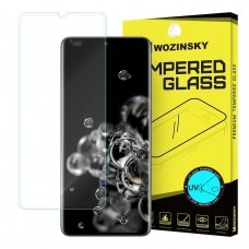 WozinskyTempered Glass UV screen protector 9H for Samsung Galaxy S20 Ultra (in-display fingerprint sensor friendly) - without glue ir LED lamp (czt002)