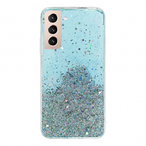 Dėklas Wozinsky Star Glitter Shining Samsung Galaxy S21+ 5G (S21 Plus 5G) Mėlynas