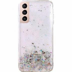 Dėklas Wozinsky Star Glitter Shining Samsung Galaxy S21+ 5G (S21 Plus 5G) Permatomas